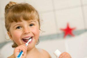 צחצוח שיניים לילדים